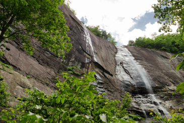 Hickory Nut Falls in Chimney Rock State Park, North Carolina